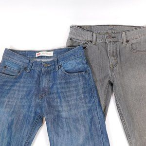 2 Pairs Boys Jeans Size 14 CL3025 0220